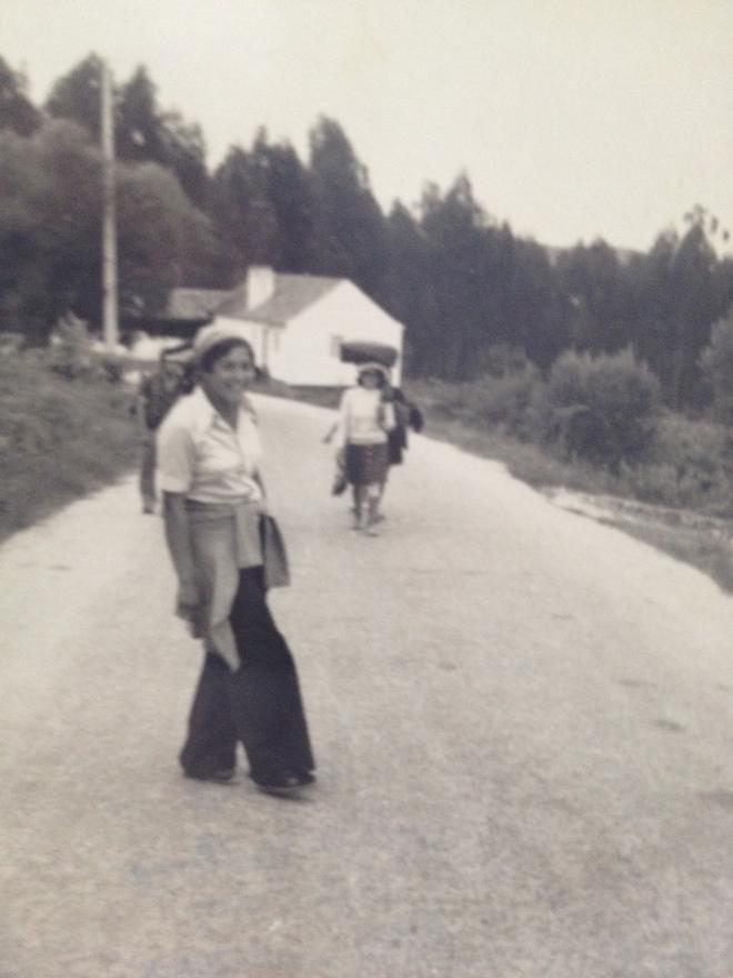 A minha mãe, numa das peregrinações a Fátima