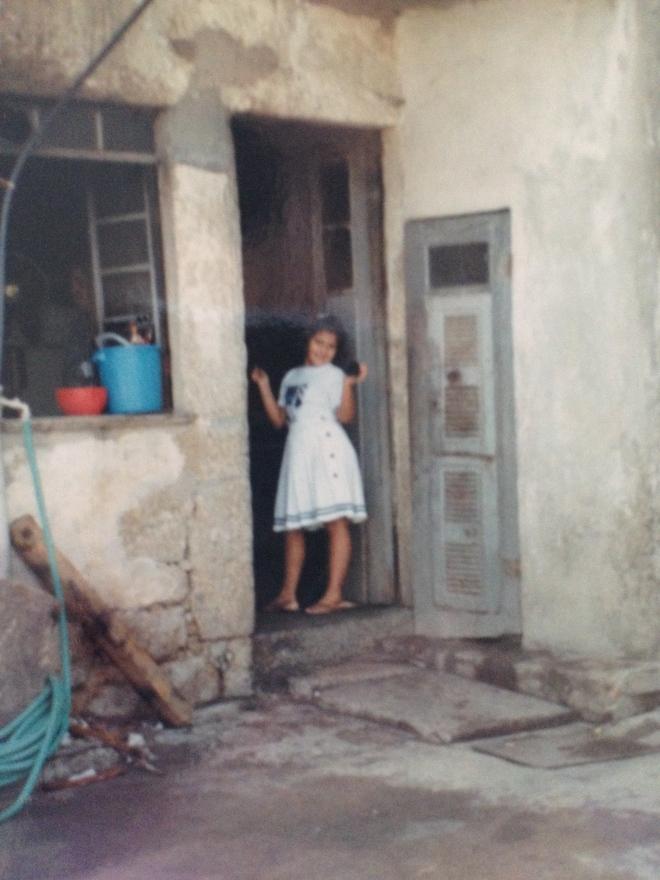 a velha porta da cozinha da minha avó...
