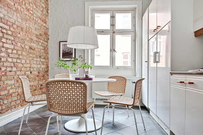 79ideas_simple_dining_area_brick_walls