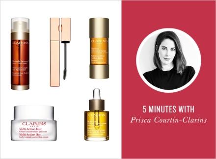 Emtrevista com Prisca Courtin-Clarins, herdeira da marca, para a RUE