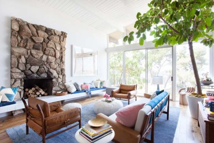 Emily-Henderson-Living-Room-Blue-Pink-Mid-Century-Modern-Tree